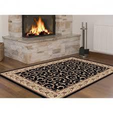 black oriental pattern 9x12 area rugs for fireplace area decor