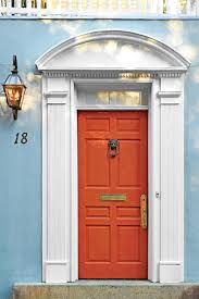 Orange front door Paint Colors Charleston Vermillion Front Door Southern Living 19 Bold Front Door Colors Southern Living