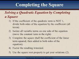 martin developmental mathematics 4 solving a quadratic equation by completing a square 1