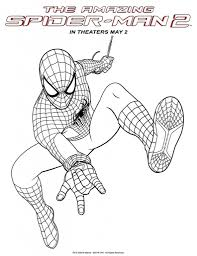Amazing Spiderman 2 Coloring Pages - Printable Coloring Sheets