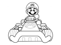 Dessins Gratuits Colorier Coloriage Mario Kart Imprimer