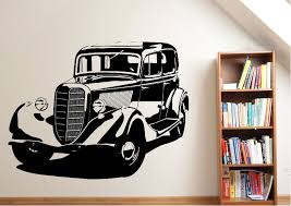 transport old classic car wall stickers