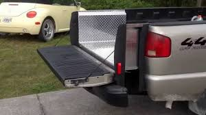 Custom wireless truck bed extension and lift gate part 2. - YouTube