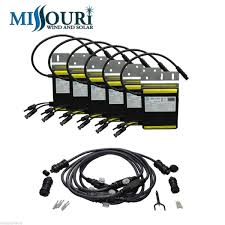 comes with 6 micro grid tie inverters and trunk cable