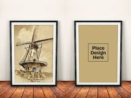 free photo frame mockup on wooden background psd new