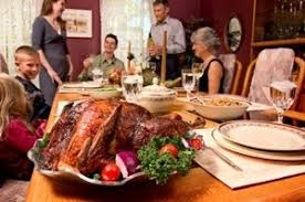 Image result for family around the thanksgiving table