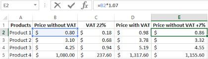 Vat Calculation Formula In Excel Download Example How To Change All Prices At Once In Excel