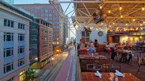 rooftop patio at the reata restaurant