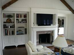 tv height over fireplace integration ideas tv height fireplace