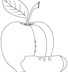 Printable apple graphic to color. Apple Coloring Collection Images