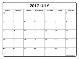 July 2017 calendar * July 2017 calendar printable