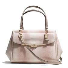 ... Medium White Satchels ARC Coach Madison Large Madeline Eastwest Satchel  in Embossed Li ...