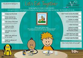 My Llu Chart Childrens Placemat Lets Eat Together Mealtime Activity Placemat Learn Table Manners And Fun Play At The Table For 3yrs A Parenting Solution