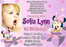 Baby Birthday Invitation Templates Cute Ba Girl Birthday
