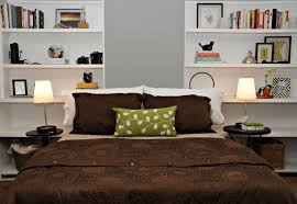 Shelves In Bedroom Bedroom Modern Wall Shelves For Decor With Black Tiles On Home