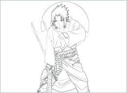 Naruto Vs Sasuke Coloring Pages Rosaarturcom