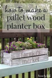 diy pallet wood planter box summer celebration 2016