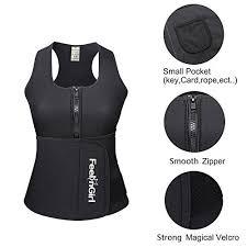Feelingirl Neoprene Sauna Suit Tank Top Vest With Adjustable