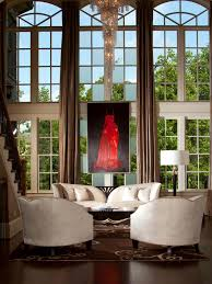 Two Story Living Room Curtains Similiar Gold And Red Two Story Window Treatment Keywords