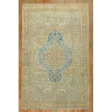 19th century powder blue persian senneh rug