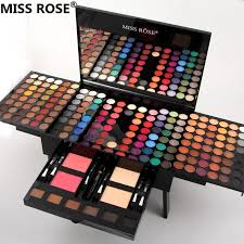 brand miss rose piano box shaped makeup set of 180 colors matte shimmer eye shadow 2 colors pressed blush powder 6 color bronzer