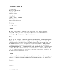 Resume Examples Templates Simple Cover Letter In Spanish For