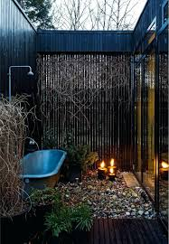 outdoor bathtub wood fired