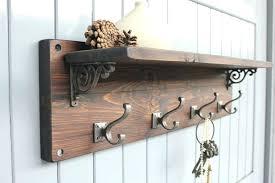 Hanging Coat Rack With Shelf New Wall Mount Coat Rack With Hooks Reclaimed Wood Coat Hook Shelf Ma