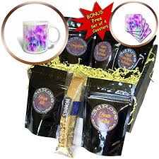 galleon 3drose abstract watercolors image of watercolor drip in fuchsia and blue paint coffee gift baskets coffee gift basket cgb 269640 1