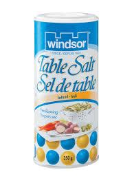 table salt. iodized table salt 350g b