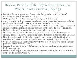 PERIODICITY (TOPICS 3 AND 13) IB Chemistry HL2. Review: Periodic ...
