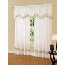 Lace Sheers No 918 Alison Sheer Lace Curtain Panel Walmartcom