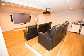 basement finish ideas. Plain Ideas A Basement Turned Into A Home Theater In Fairport In Basement Finish Ideas O