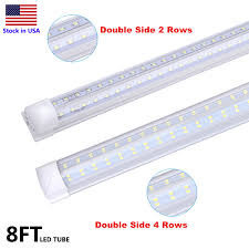 Led Vs T8 Shop Light Us 332 82 10 Off 8ft Double Side 4 Rows 120w Led Tube Light Shop Light V Shaped Integrate T8 Led Tube Integrated Cooler Door Stock In Us In Led