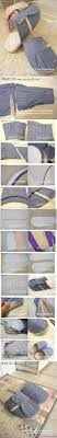 diy old clothes cuff slipper diy projects