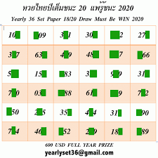 Thai Lotto Yearly Paper 36 3UP Game 2020 – Thai Lottery Free OR VIP TIP WEB    Lottery, Lottery tips, Lottery numbers