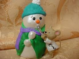 NURSE Christmas tree ORNAMENT taking SNOWMAN'S Temp CUTE 1997 Hallmark