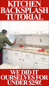 How To Install Backsplash Tile In Kitchen Awesome How To Install A Kitchen Backsplash The Best And Easiest Tutorial
