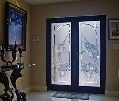 Etched sandblasted jumping marlin entrance jellyfish frosted bevelled door  stokkelandfo Choice Image