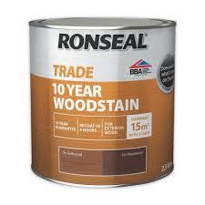Ronseal Varnish Colour Chart Ronseal Trade 10 Year Woodstain 2 5 Litre Sealants Online