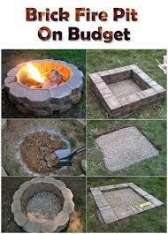 Brick Fire Pit On Budget Diy Outdoor Fireplace Backyard Fire Brick Fire Pit