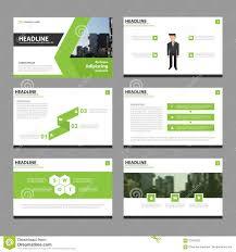 Presentation Design Templates Green Vector Annual Report Leaflet Brochure Flyer Template