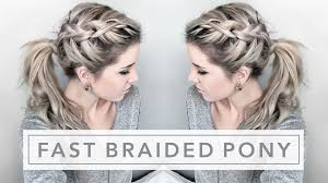 Quick Ponytail Hairstyles Quick Tutorial Easy Braided Ponytail Youtube