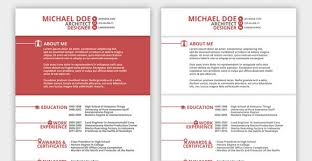 Creative Market Red Resume Template 9