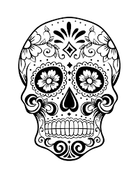 Small Picture Day of the Dead Skull Coloring Page 1 Because I Can Pinterest