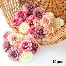 <b>10Pcs</b>/<b>set Artificial Silk</b> Rose Peony <b>Flower</b> Heads Bulk Craft ...