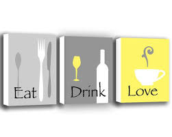eat drink love kitchen wall decor