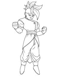 Small Picture Z Coloring Page Dragon Ball Z Goku Ssj Coloring Page With Dragon