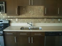 Backsplash For Dark Cabinets Dark Kitchen Cabinets With Glass Backsplash Quicuacom