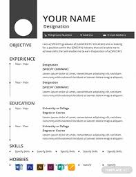 Free Resume Sample Free Blank Resume Template Word Psd Indesign Apple